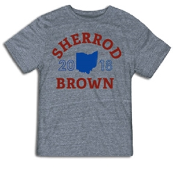 "T-shirt: ""Sherrod"" arc (grey shirt) Sherrod Brown T-Shirt"